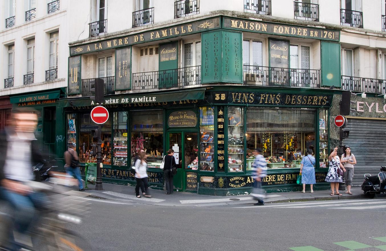 A la m re de famille 35 rue du faubourg montmartre - Bureau de change rue montmartre ...