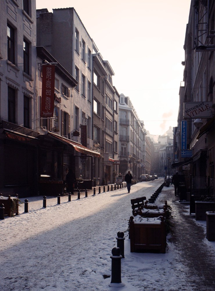 First snow in Brussels, Winter 2011/12