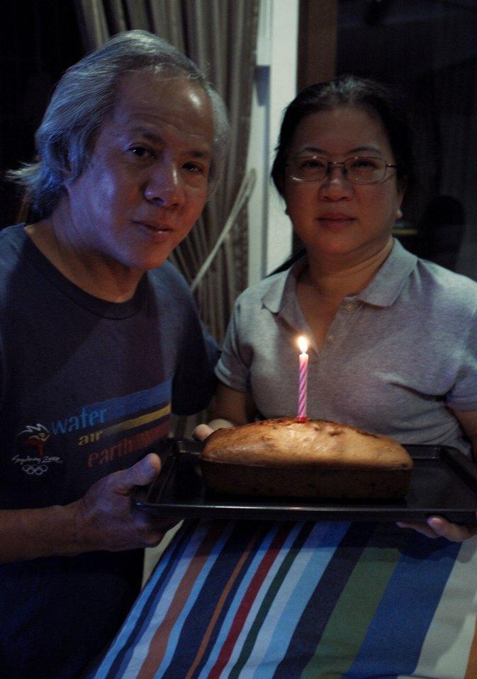 Mummy's birthday surprise: Lemon yogurt raisin cake