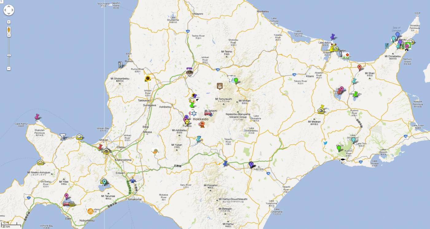 Hokkaido World Map.12 Days Of Summer In Hokkaido Angelina Hue