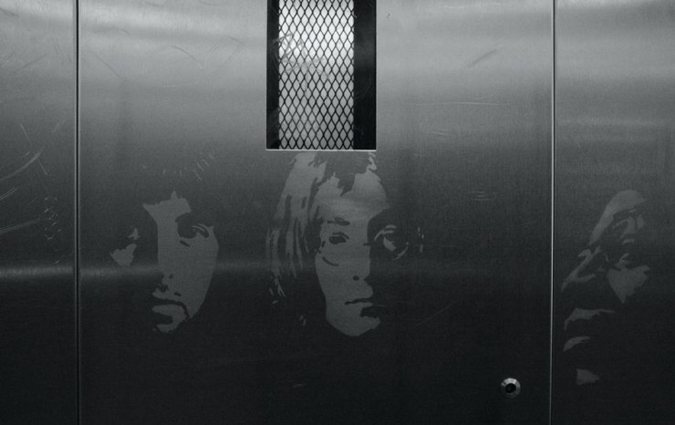 Métro Abbesses lift01A25BW