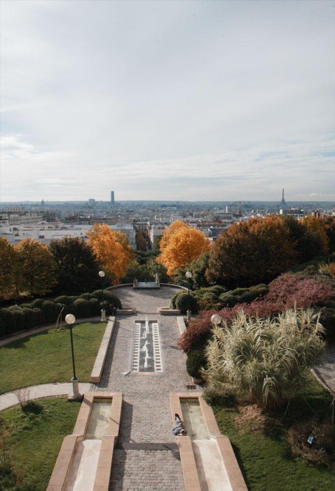 Spots to Visit in Paris, France: Le parc de Belleville28k64