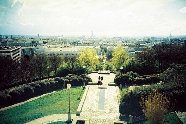Parc de Belleville - view of Paris - Fuji Sensia 200 clone l