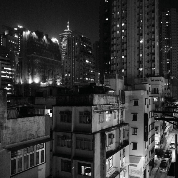 View from 5F, 22-24 Tai Ping Shan St., Sheung Wan08-9a25bw