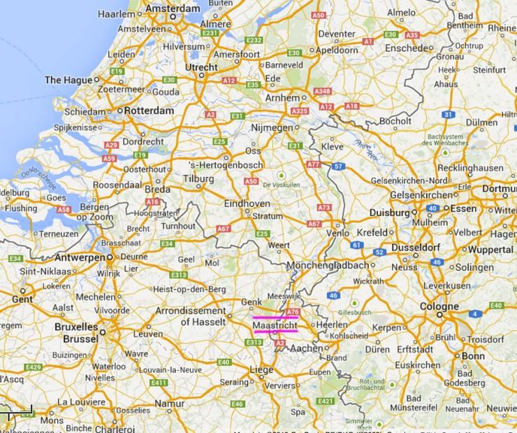 Maastricht-map