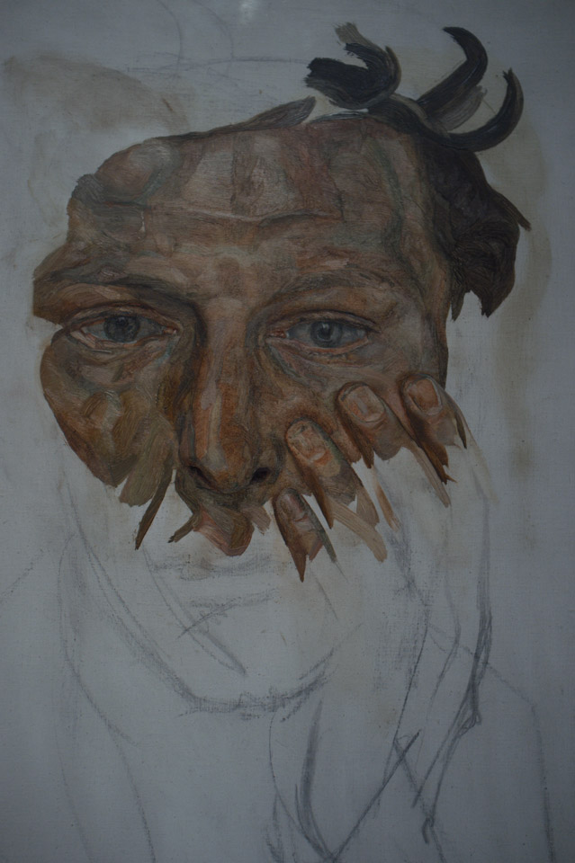 Lucian Freud: Self-portrait 1956 (unfinished)