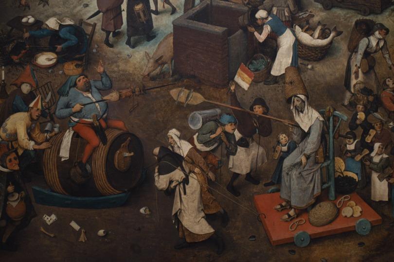 Pieter Bruegel the Elder's Der Kampf zwischen Karneval und Fasten 1559k64