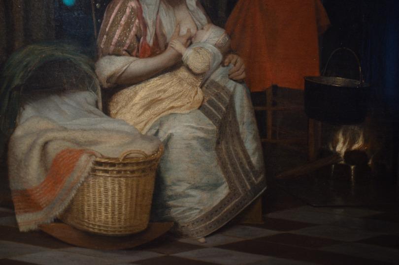 Pieter de Hooch's Frau mit kind und dienstmagd 1663k64