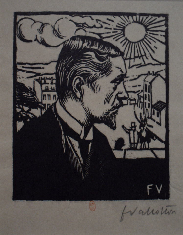 Self-portrait, woodcut print 1891