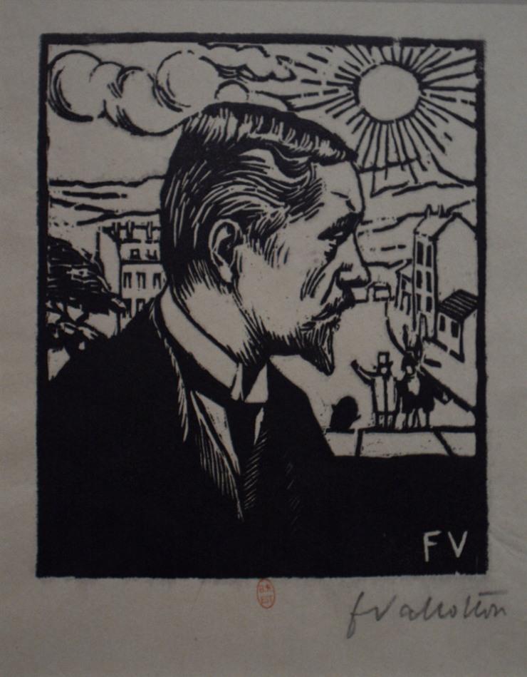 Self-portrait, woodcut print 1891