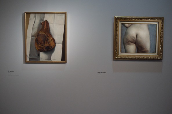 Le jambon (The ham) 1918 - Etude de fesse (Study of buttocks) 1884: The curator of the exhibition has a sense of humour!