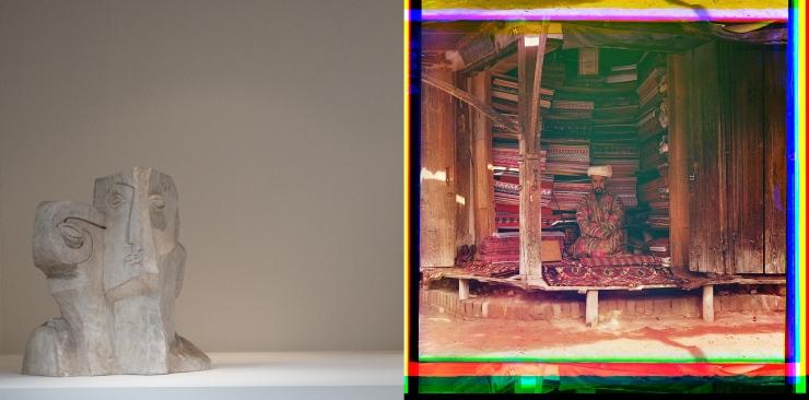 Tête de Prométhée + Samarkand Fabric merchant