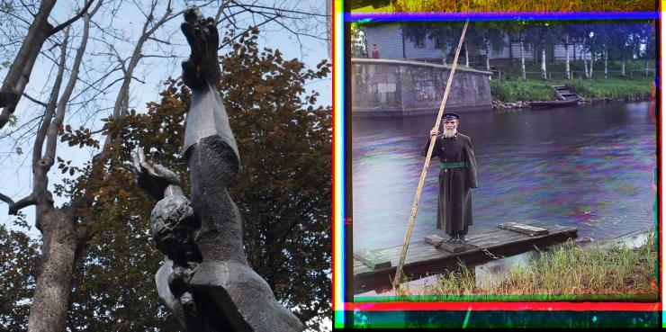 Torse de la détruite + Pinkhus Karlinskii, 84 years old, 66 years of service, supervisor of Chernigov floodgate