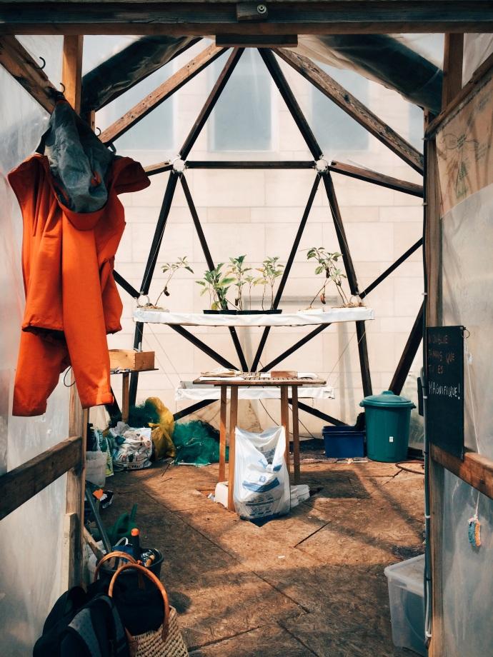 Potage-Toit: Geodesic greenhouse
