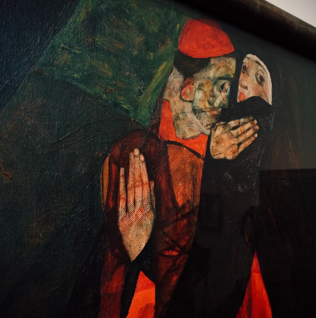 Egon Schiele - Cardinal & Nun (Caress) 1912