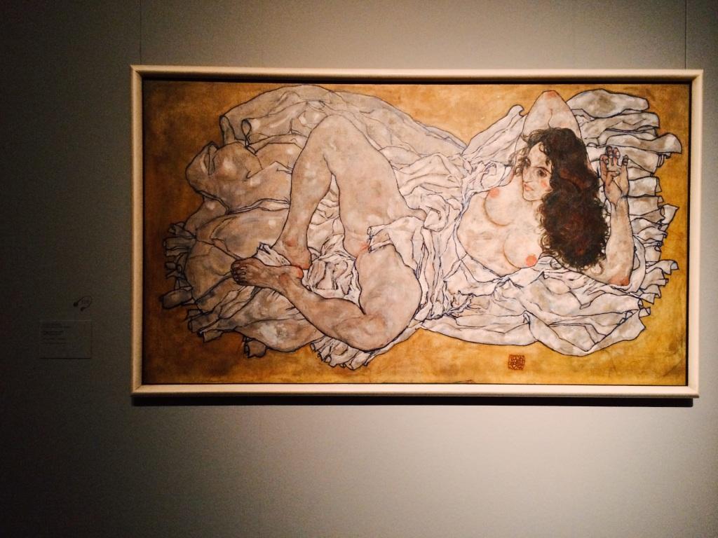 Egon Schiele - Reclining Woman 1917