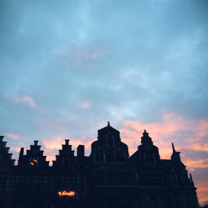 Ghent - sunset