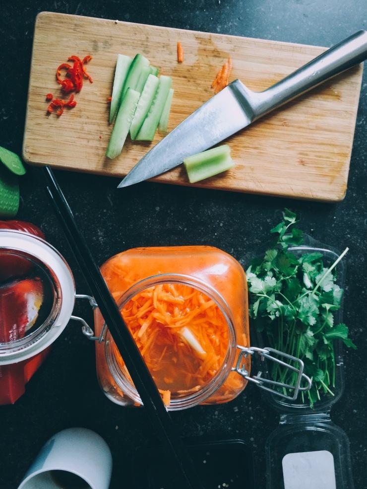 Pickled celery & carrot