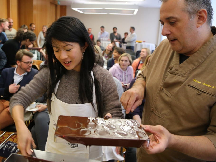 Making chocolates with Yuzu