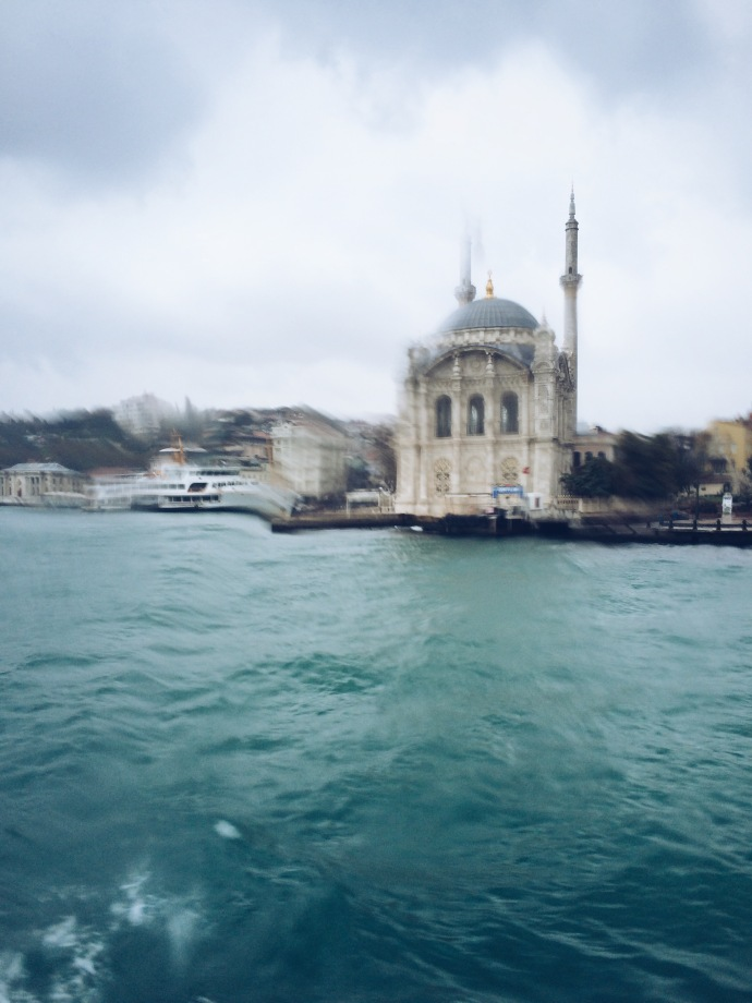 Bosphorus on a rainy day