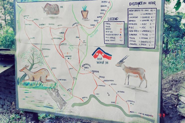 Nepal 1998 - map