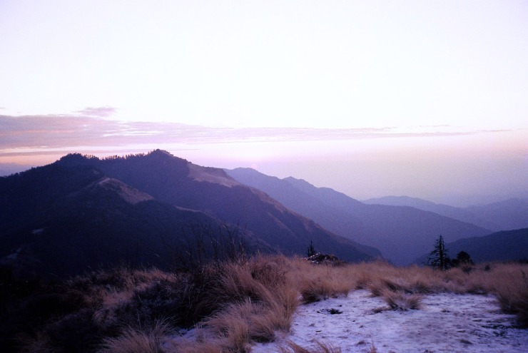 Sunrise from atop Poon Hill: We had to climb up the hill in the dark, before the sun started to rise, for at least an hour. The sunrise was spectacular. Much more impressive seeing it in person than on a photo.