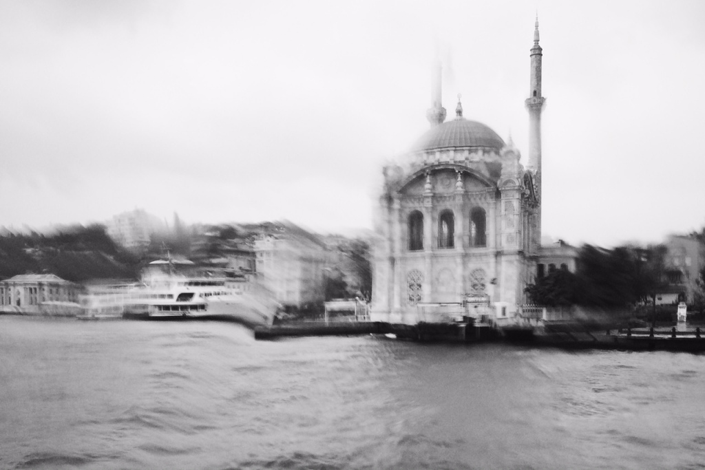 Istanbul - Bosphorus on a rainy day