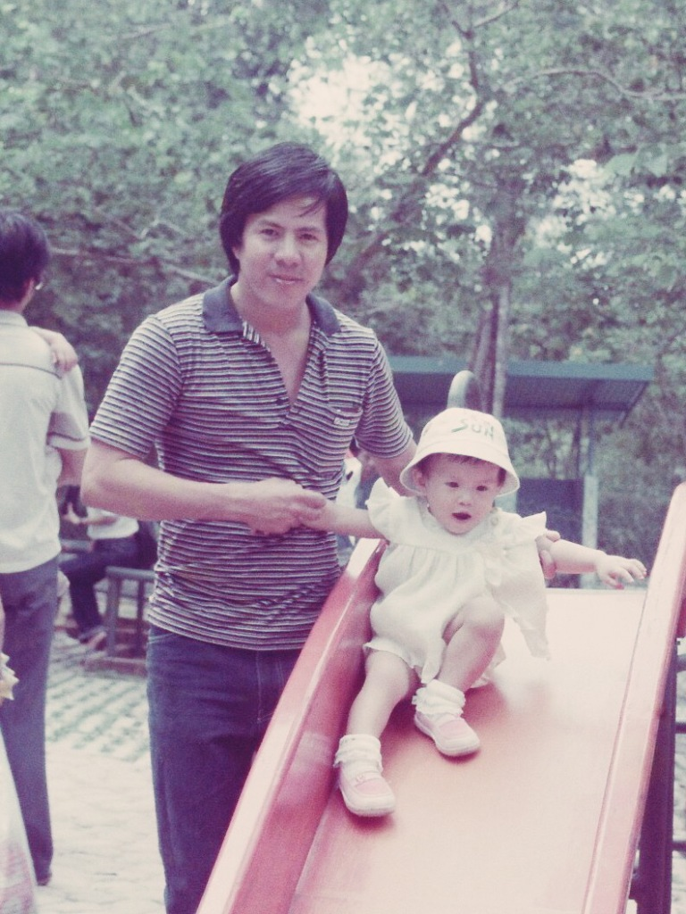 Dad and I at Singapore Zoo