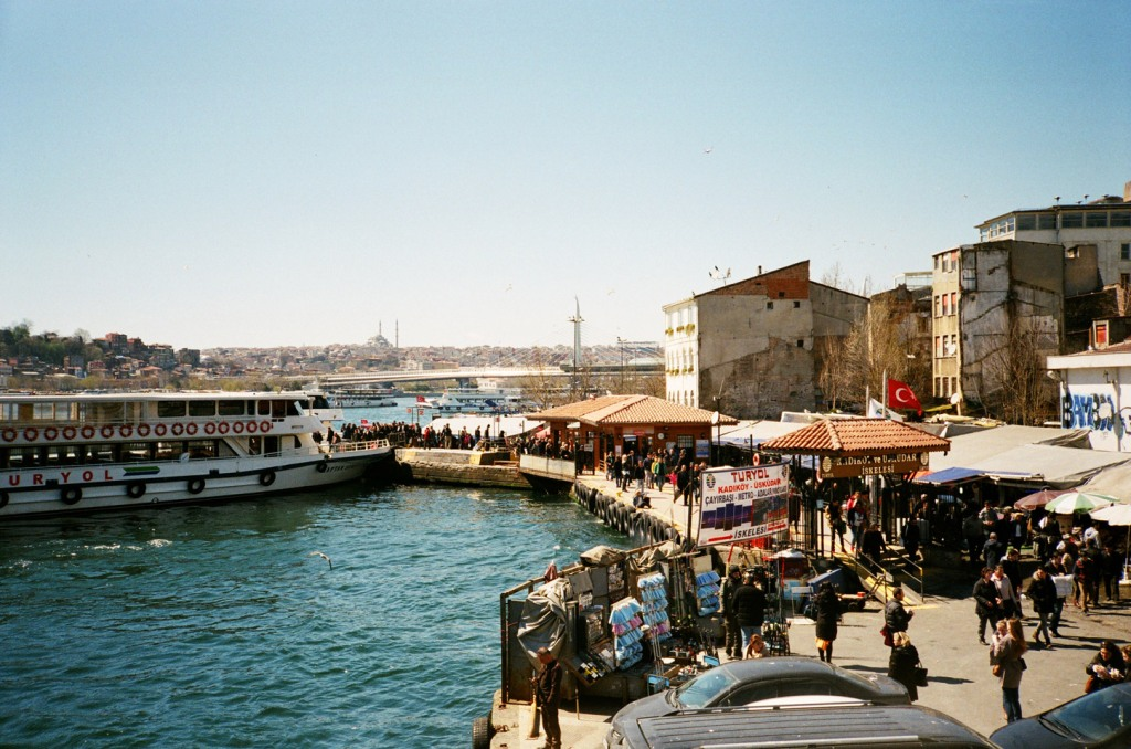 Karaköy waterfront as seen from Galata Bridge