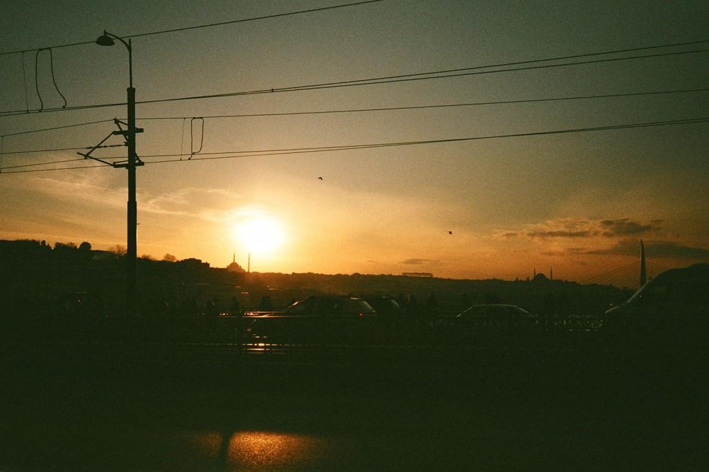 Sunset as seen from the Galata Bridge