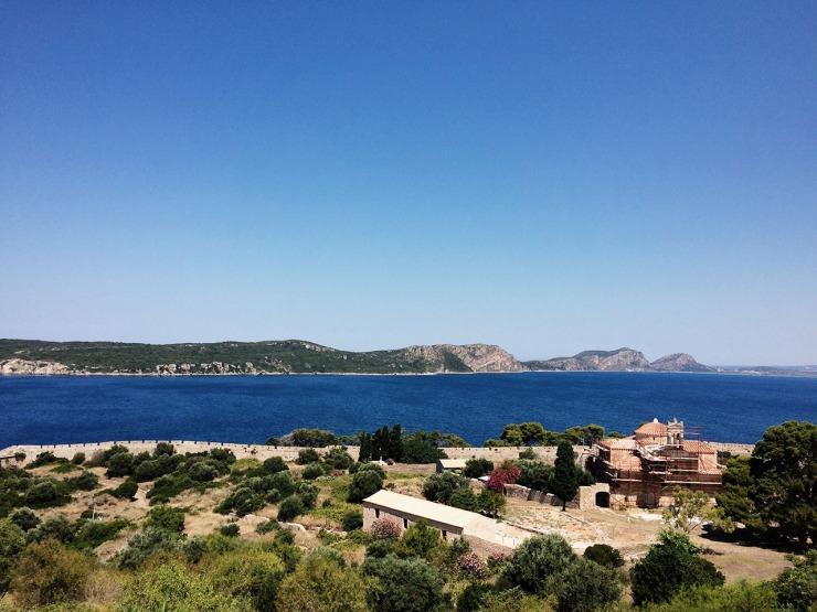 View from Niokastro (New Navarino castle)
