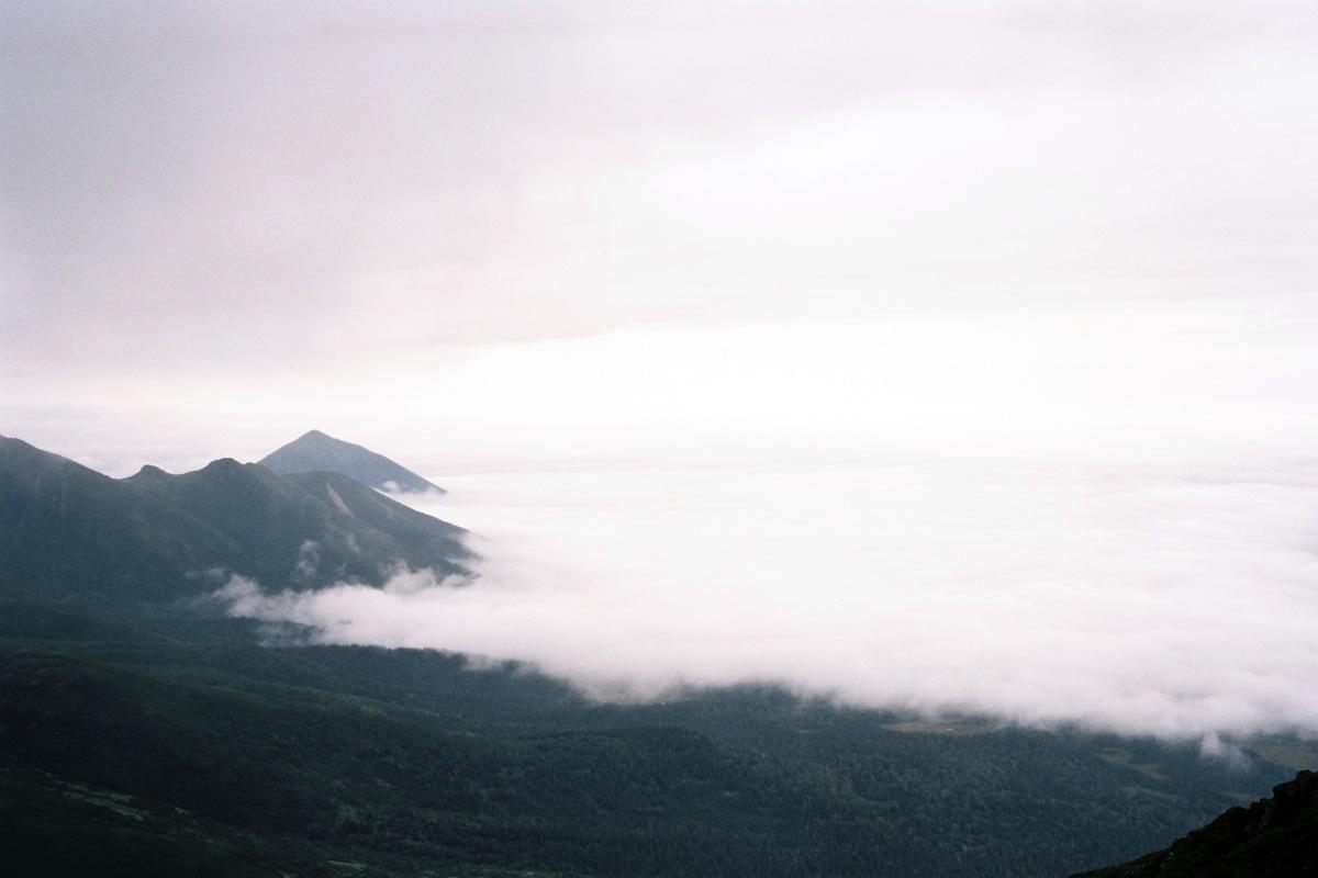 Cloud sea in Tokachidake / Furano, Hokkaido - Portra 160, Canonet QL17 GIII