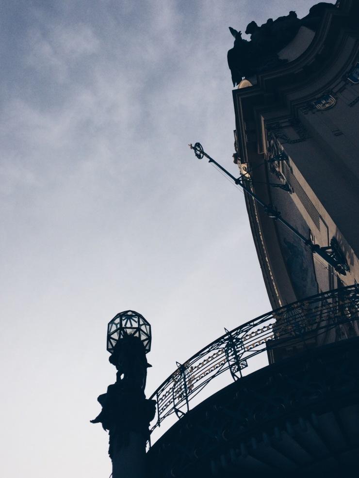 Prague - Cubist torchbearer Municipal House