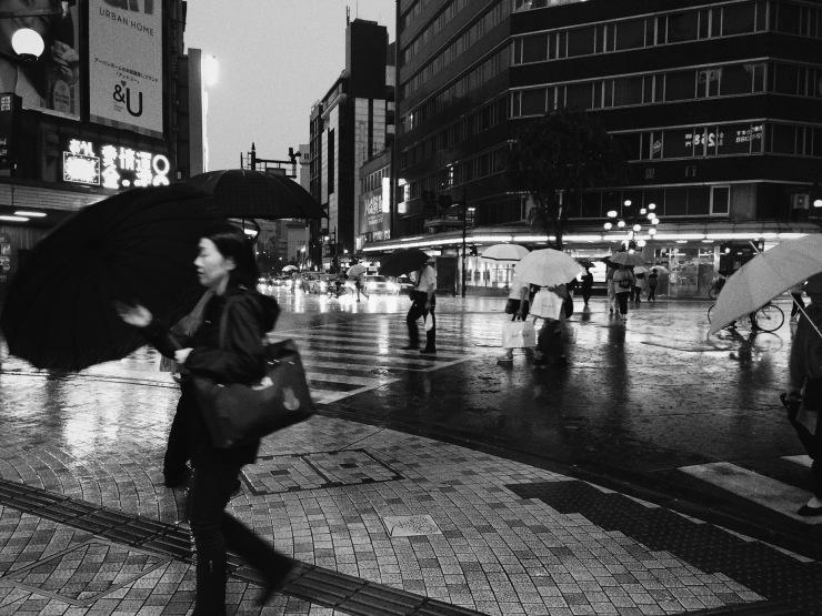 Rainy day - Kata-matchi, Kanazawa