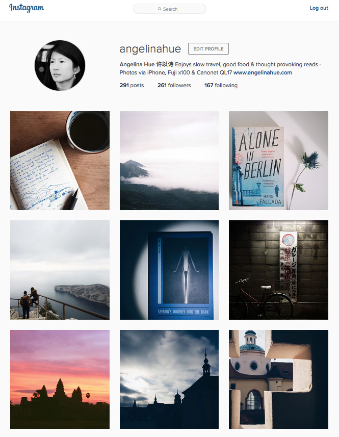 Instagram Angelina Hue