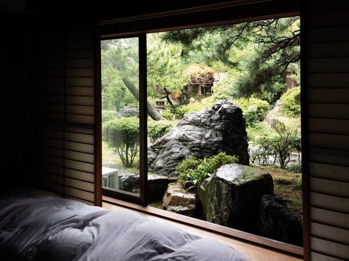 Japanese garden in a former ryokan in Kanazawa