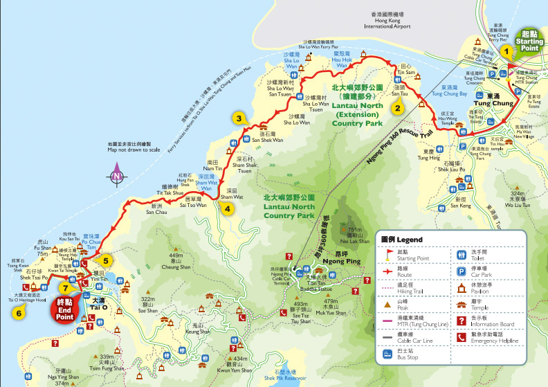 Tung O ancient trail map