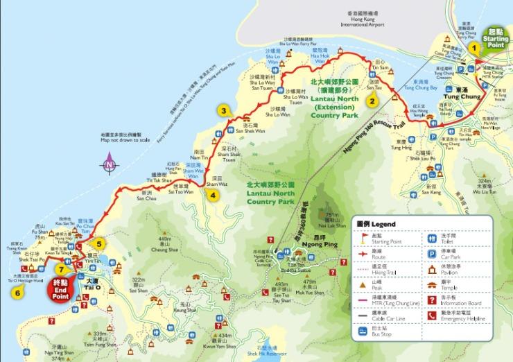 Tung O ancient trail map