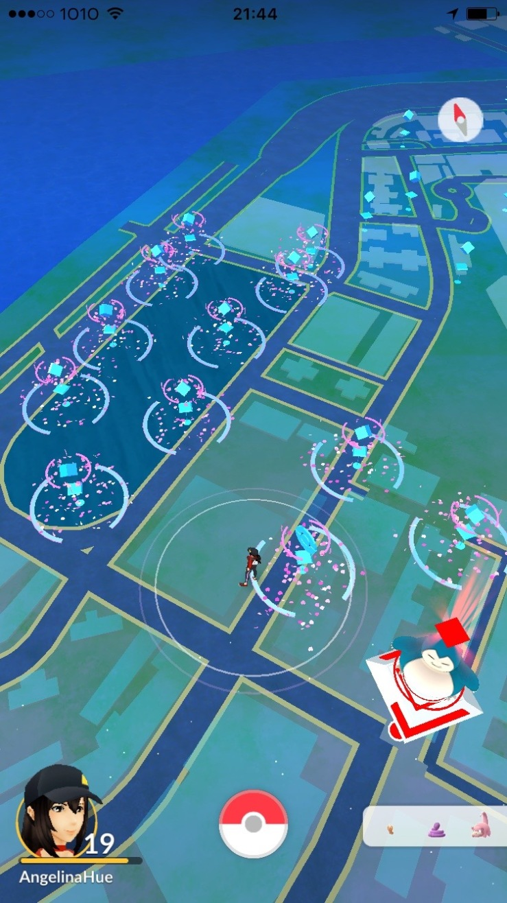 Pokestops with lures