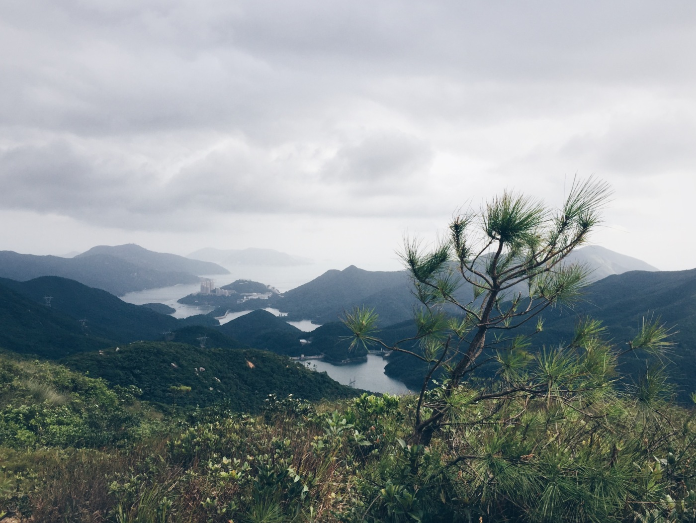 Tai Tam Reservoir 大潭水塘 and Tai Tam Harbour 大潭港 as viewed from somewhere in between Jardine's Lookout 渣甸山 and Mount Butler 畢拿山