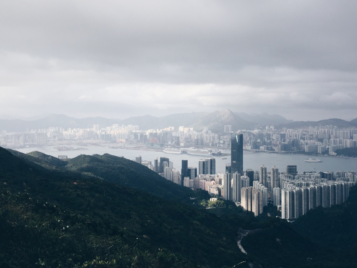 Hong Kong as seen from Mount Butler 畢拿山