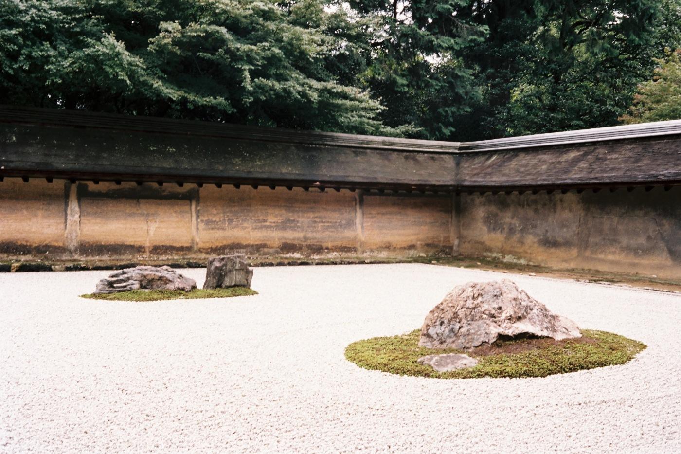 Garden at Ryoan-ji temple - Portra 160
